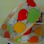 Band 40mm, Luftballons grün gelb rot orange