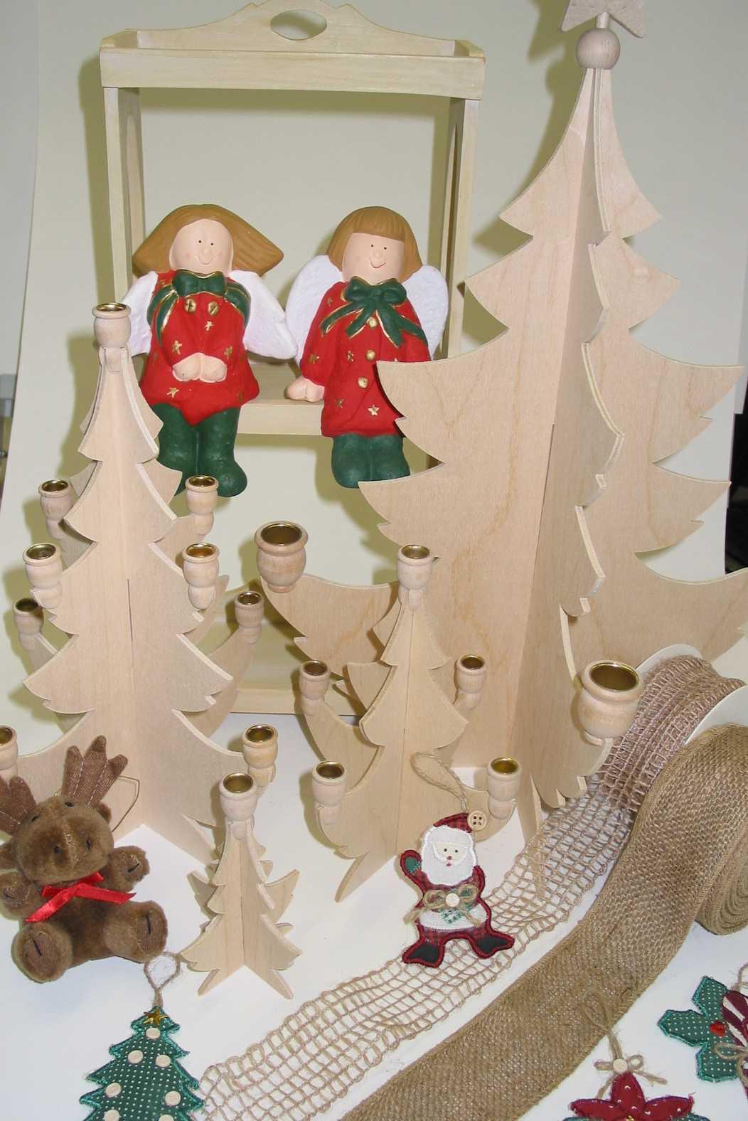 tannenbaum holz zum zusammenstecken f r 4 stabkerzen art fun. Black Bedroom Furniture Sets. Home Design Ideas