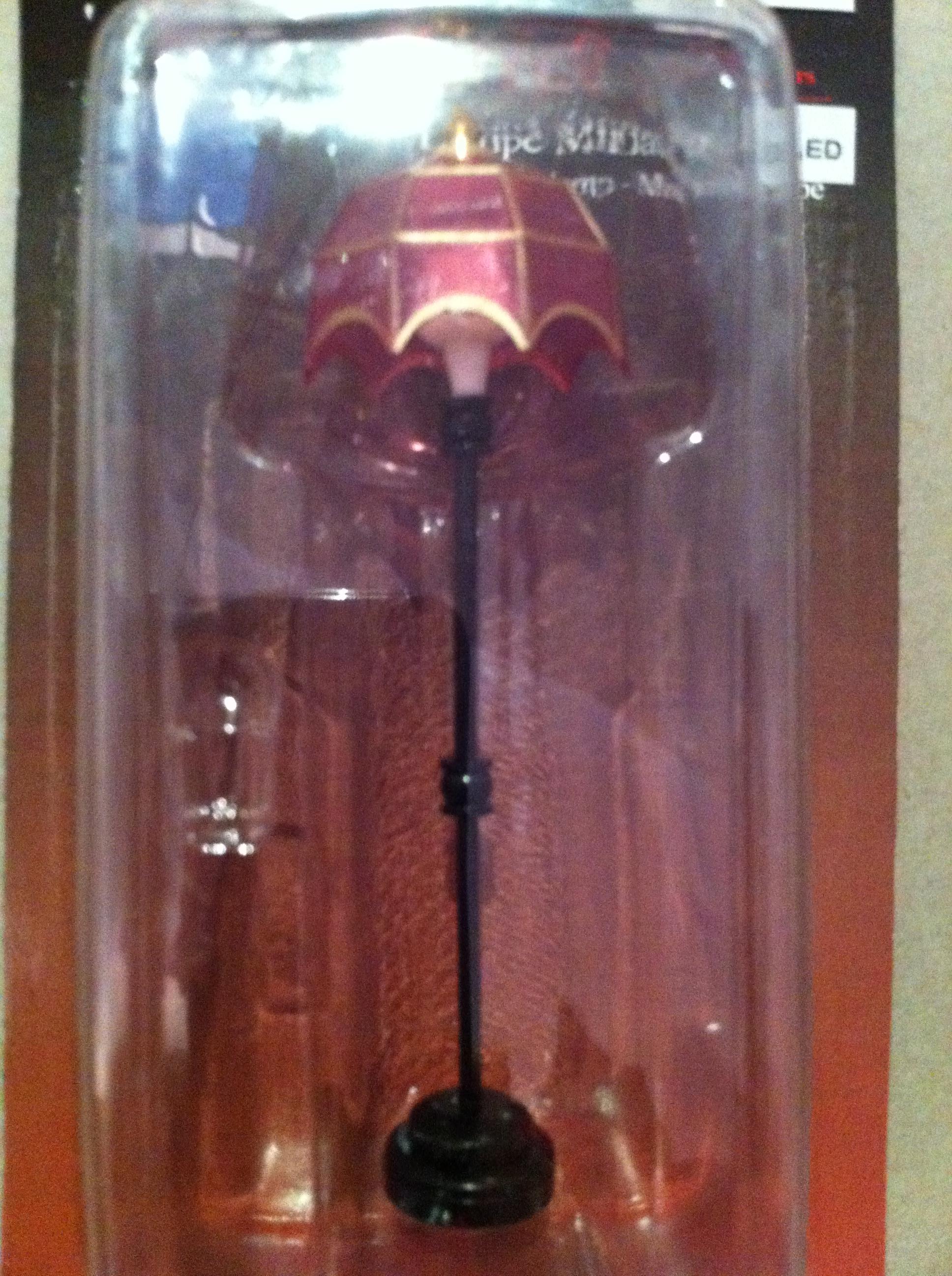 stehlampe mit batterie schirm rosa f r puppenstuben. Black Bedroom Furniture Sets. Home Design Ideas